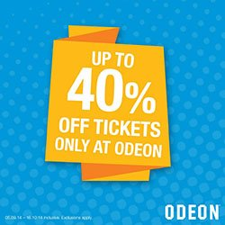 Odeon 40% Off Cinema Tickets