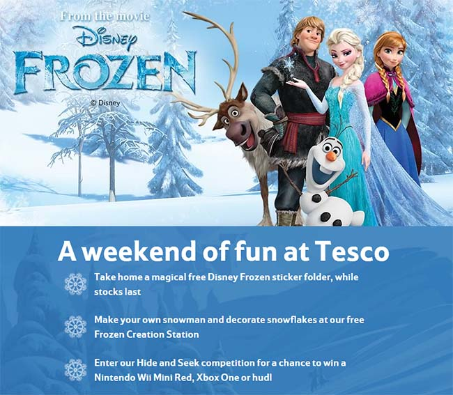 free-tesco-frozen-events
