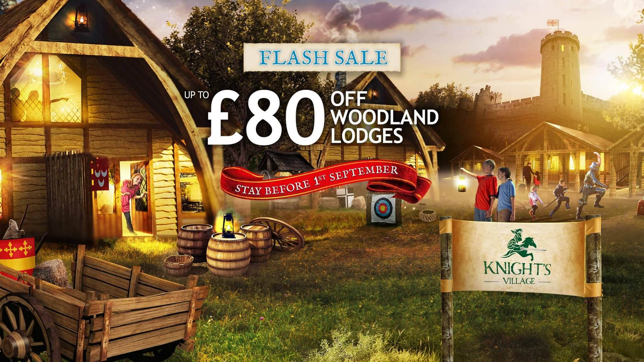 Flash Sale Save Up To 163 80 On Warwick Castle Woodland Lodges
