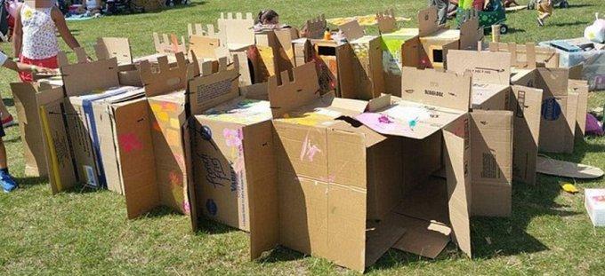 kids festival cardboard castle