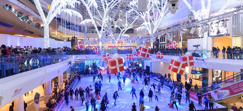 Westfield london ice skating break including ice rink for Overnight stay in paris