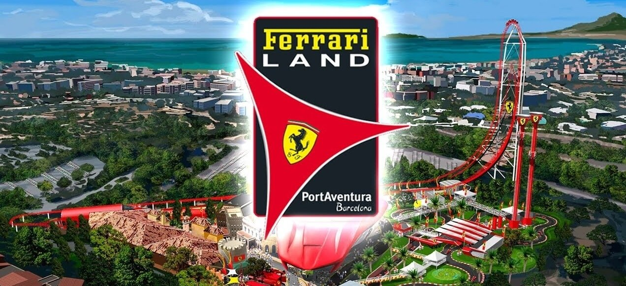 brand new ferrari land at port aventura theme park spain august all inclusive 7 nights. Black Bedroom Furniture Sets. Home Design Ideas