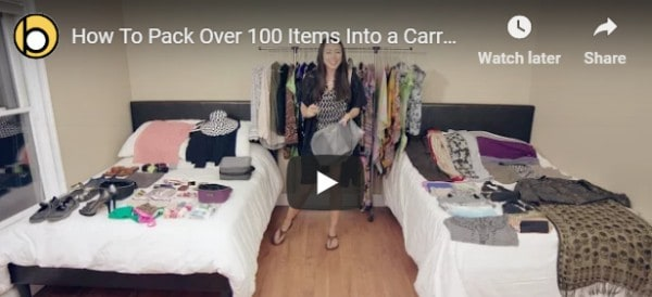 Woman Packs Over 100 Items Into Hand Luggage