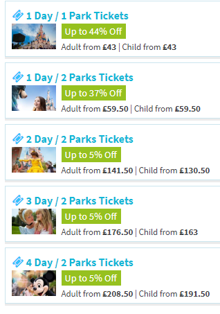 Disneyland Paris Tickets, Up to 44% Off Discount