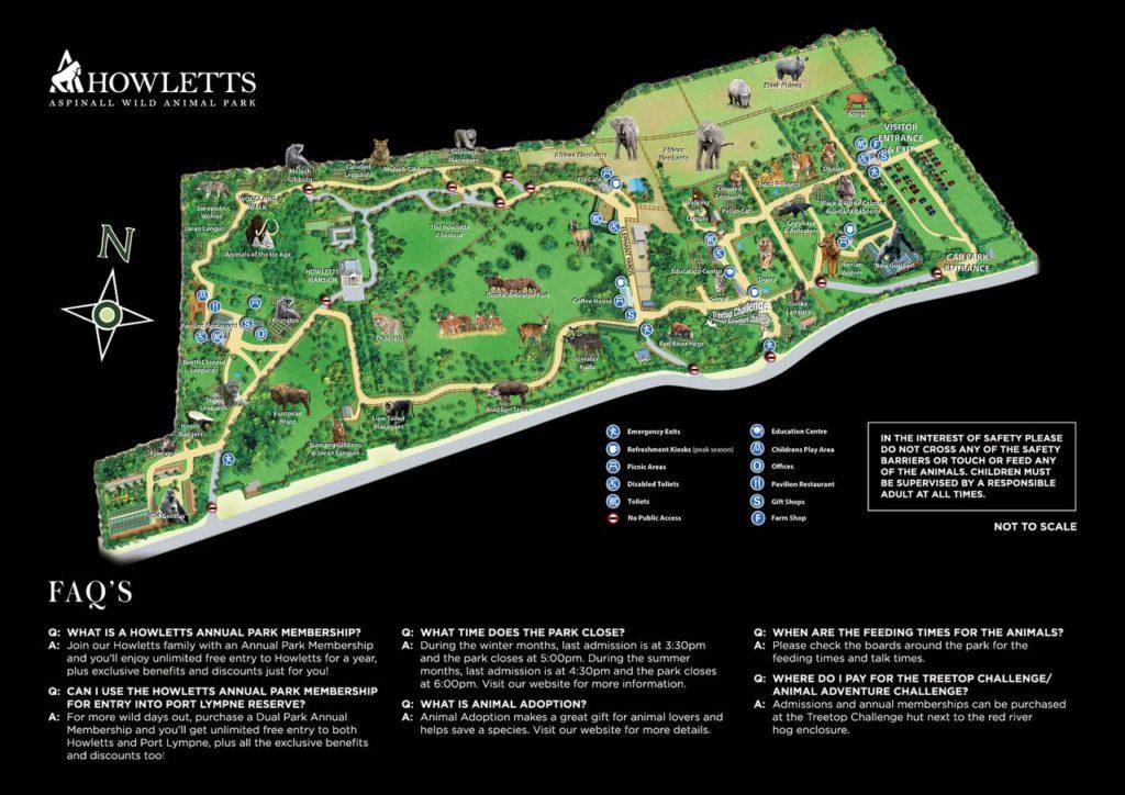 Howletts Map