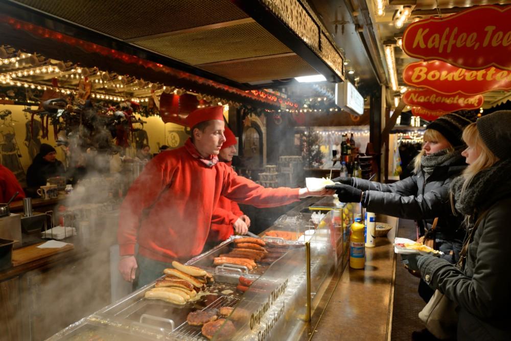 Berlin Christmas Market Food Stall