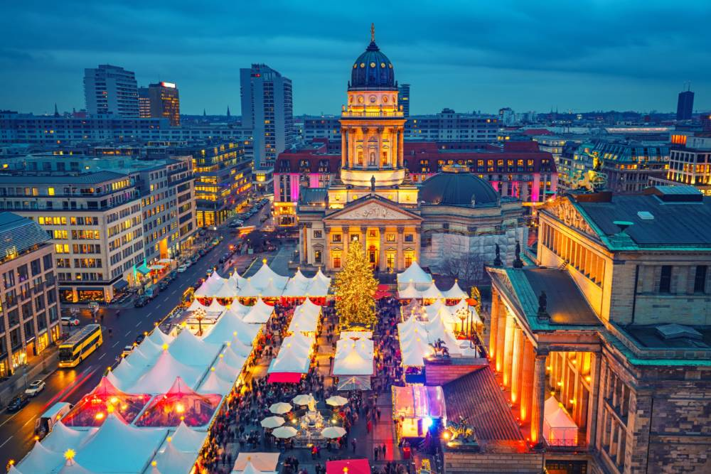 Berlin Christmas Market From Above