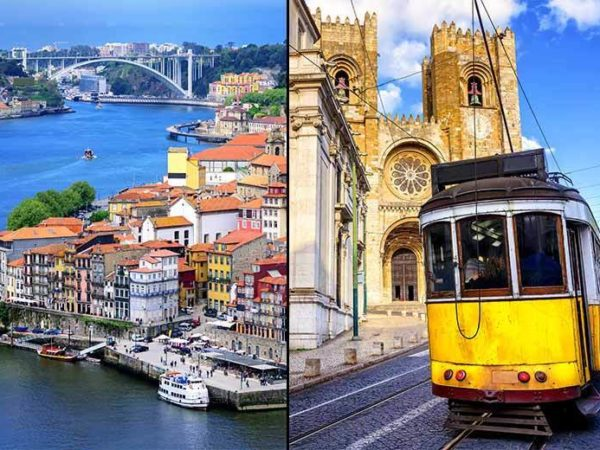 From £169pp (from Crystal Travel) for a four-night Lisbon and Porto city break with all flights, from £249pp for six nights - save up to 33%