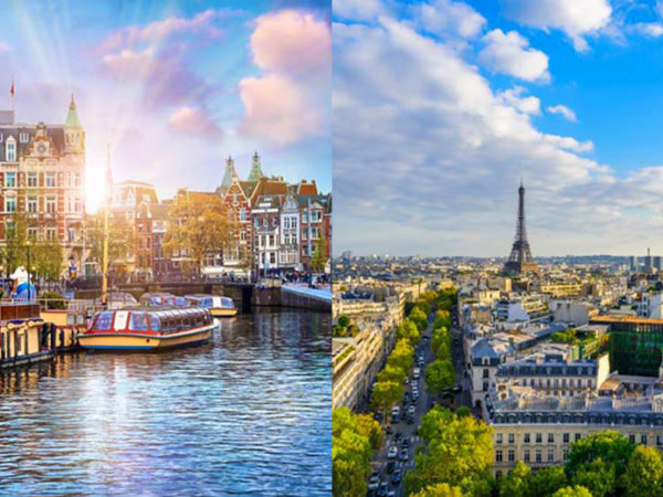 From £219pp (from Weekender Breaks) for a four-night Paris and Amsterdam city break with a train transfer and return flights, or from £289pp for six nights - save up to 33%