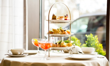 Seasonal Afternoon Tea with Glass of Prosecco and Spa Access for Up to Four at The Hilton Northampton Hotel