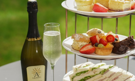 Sparkling Afternoon Tea for Up to Four at 4* Courtyard by Marriott Edinburgh West (Up to 49% Off)