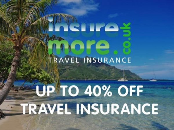 £1 for 40% off annual worldwide policies, 35% off annual European travel insurance policies and 30% off single-trip insurance policies from InsureMore!
