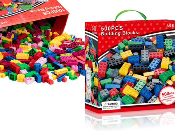 £10.99 instead of £39.99 (from Litnfleek) for a 500 piece set of DIY creative building blocks or £15.99 for a 1000 piece set of DIY creative building blocks - save up to 73%