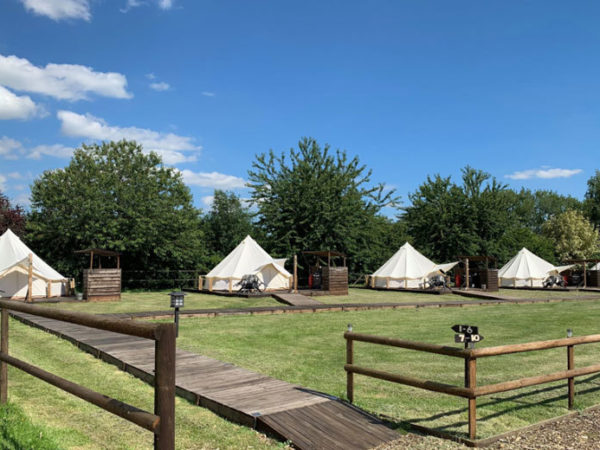 £139 (at Oaklodge Retreat, Suffolk) for a two-night luxury bell tent stay for up to four people with sauna and hot tub access - save up to 61%