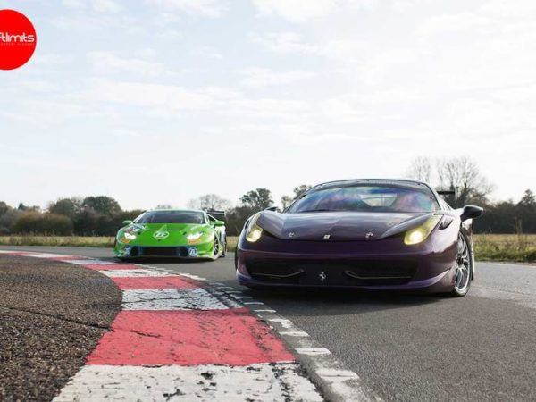 £149 instead of £298 for a 20-lap Lamborghini vs Ferrari super car at Drift Limits, Hemel Hempstead - save 50%