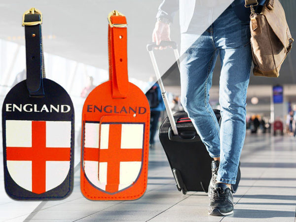 £2.99 instead of £14.99 for a Pack of 2 England Luggage Tags from London Exchain Store - save up to 80%