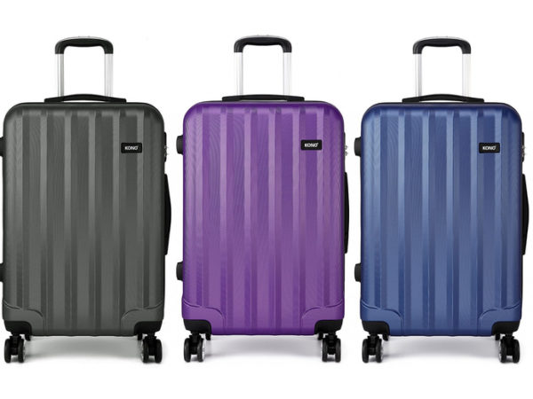 £24.99 (from Miss LuLu) for a vertical stripe hard shell suitcase!