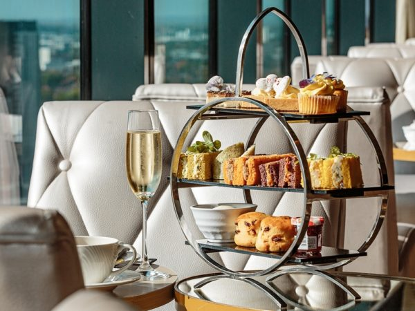£44 -- Afternoon tea & cocktails for 2 with Manchester views