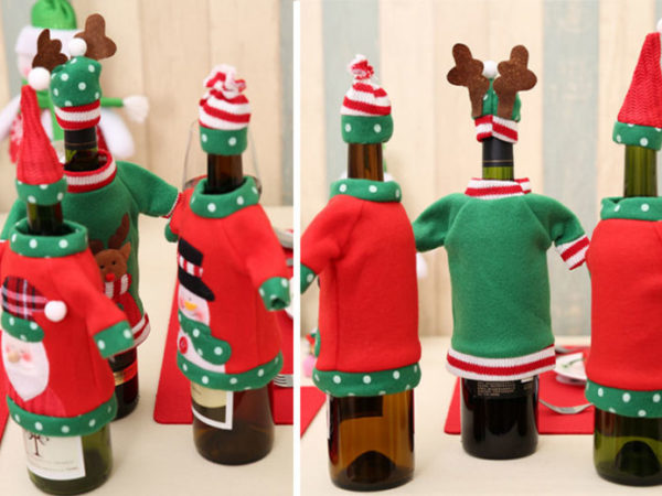 £5.99 instead of £59.97 (from Hey4Beauty) for a set of three Christmas jumper bottle covers - save 90%