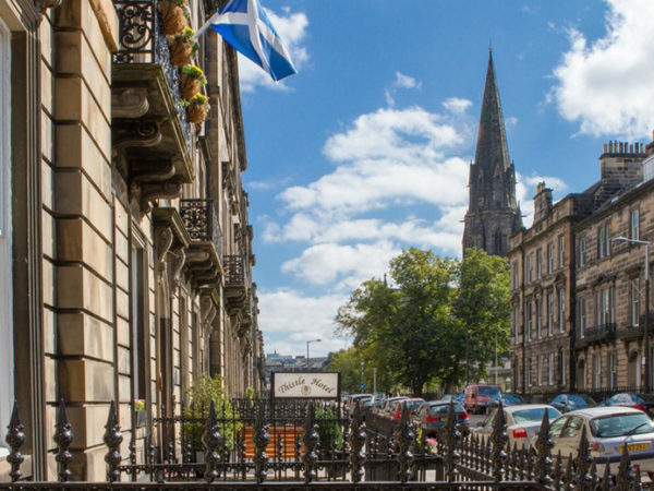 £69 (at Edinburgh Thistle Hotel) for an overnight stay for two people with continental breakfast, or from £129 for two nights with a glass of Prosecco each - save up to 64%