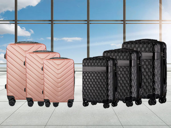 £69 instead of £279.99 for a three-piece ABS suitcase set from Happydealz LTD - save 75%