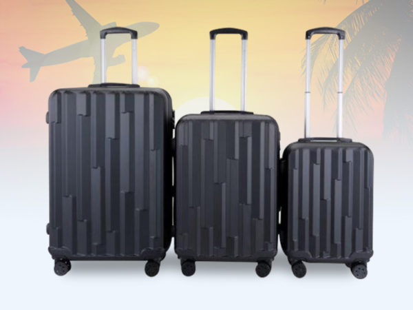 £79.99 instead of £491 (from MC California USA) for a Lohani four-wheel luggage set -choose from three colours and save 84%