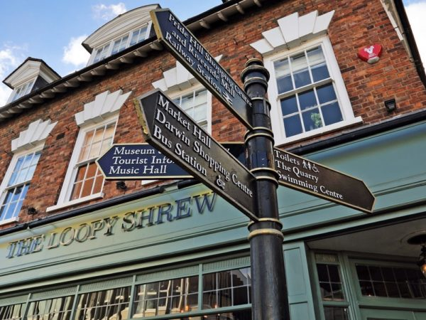 £89 -- Central Shrewsbury stay with dinner, save 46%