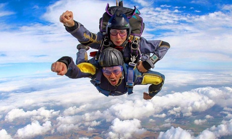 7,500ft Tandem Skydiving Experience for One or Two at UK Parachuting (Up to 22% Off)