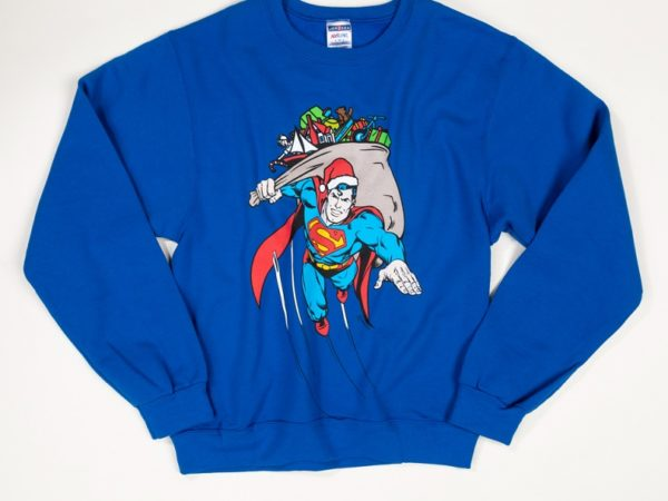 Blue Superman Christmas Jumper