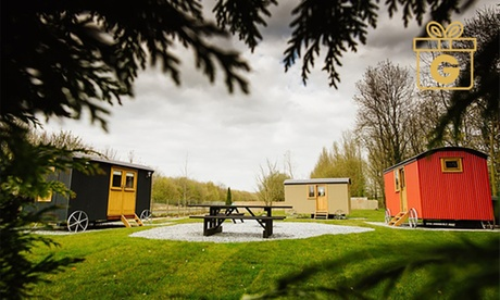 Lancashire: 1 or 2 Nights for Four in Shepherd Hut at Samlesbury Hall
