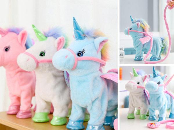 £11.99 (from Litnfleek) for an electric walking unicorn!