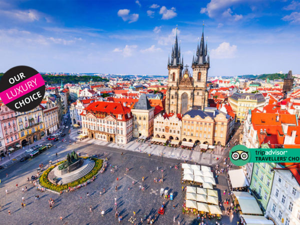 Escape with a two, three or four-night 5* getaway to Prague, Czech Republic- Now with the ability to choose your flights!