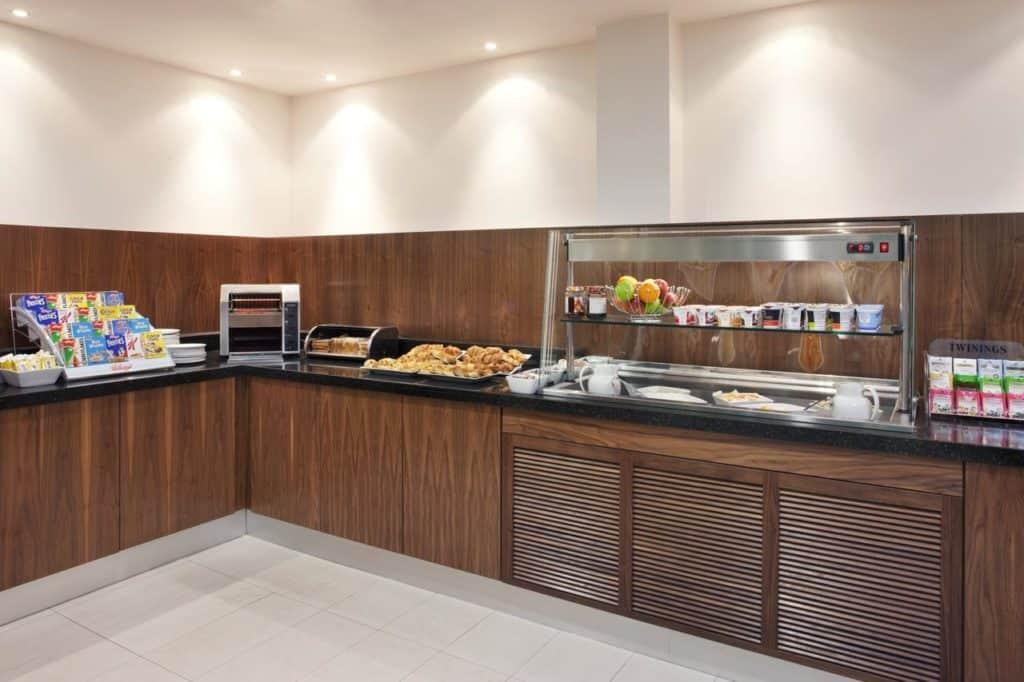 Food bar at Family-friendly Holiday Inn Express Tamworth near Drayton Manor