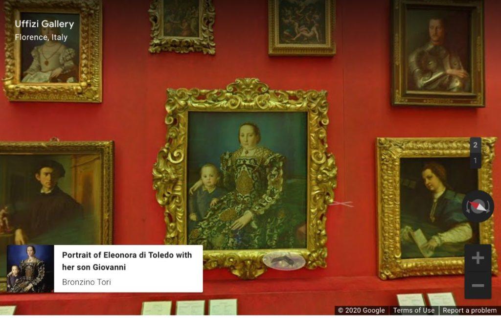 virtual tour, virtual museum, Uffizi-Gallery-Florence-Italy