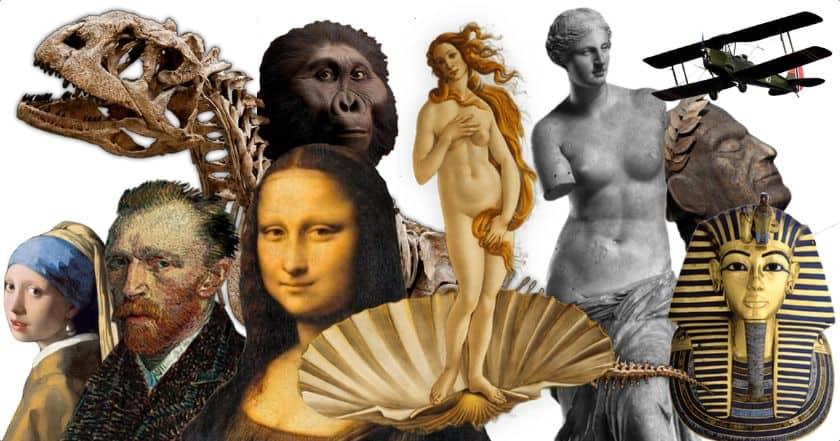 Virtual Museums with virtual tours, app, virtual reality, VR, Mona Lisa, Venus de Milo, Van Gogh, online