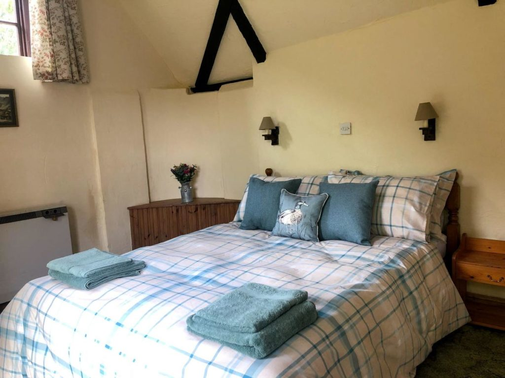 Inside a double-bed kid-friendly room of a popular accommodation at Beachborough Park