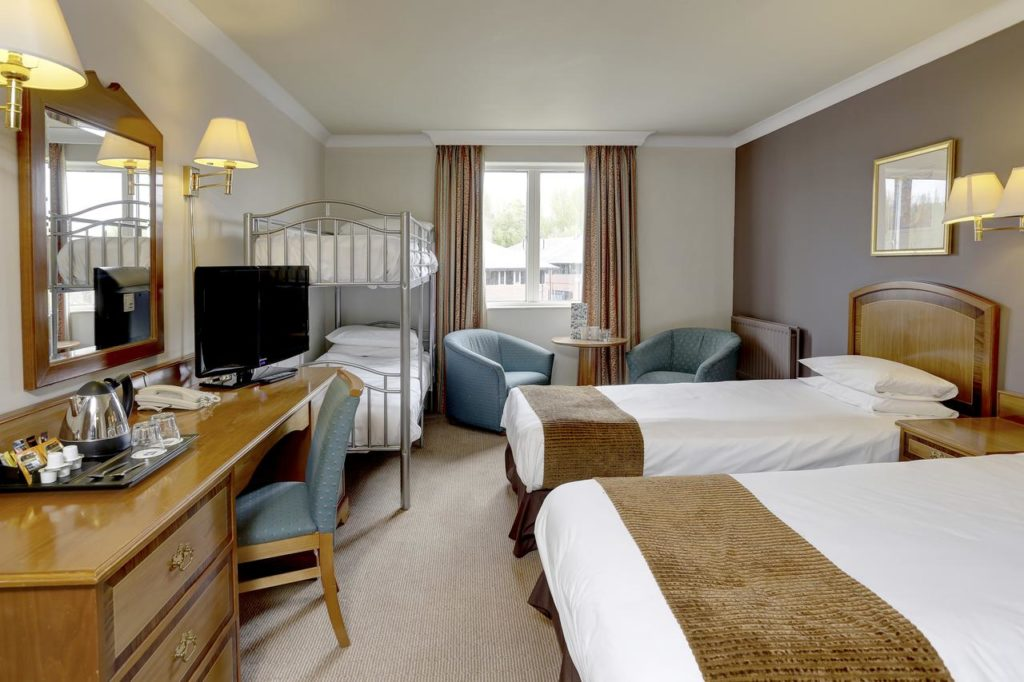 Inside a family room with bunk beds that sleeps 4 at Best Western Plus Stoke-on-Trent