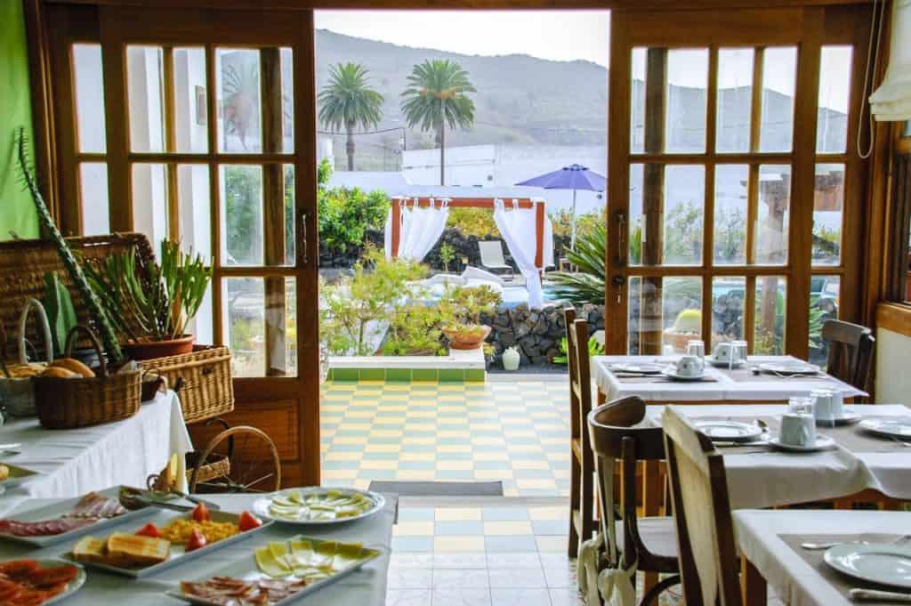 view of indoor and outdoors of casa rural villa lola y juan