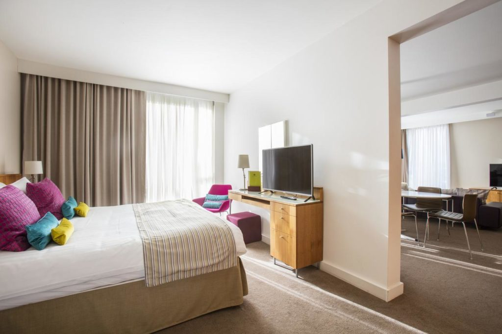 Inside family friendly adjoining rooms at DoubleTree by Hilton Leeds