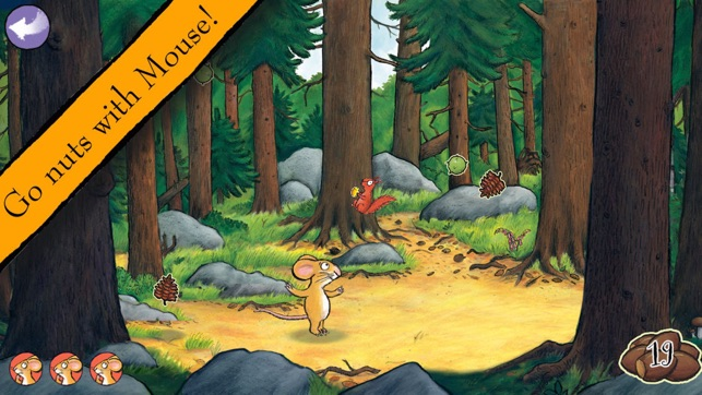 Gruffalo Games App - Go Nuts with Mouse!
