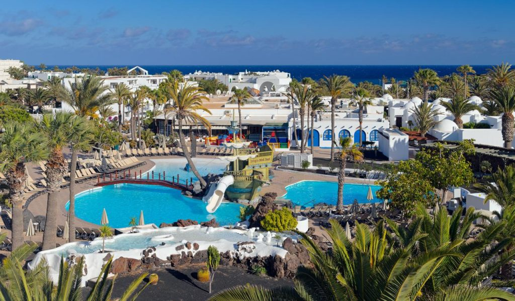 swimming pool and resort at h10 suites lanzarote gardens