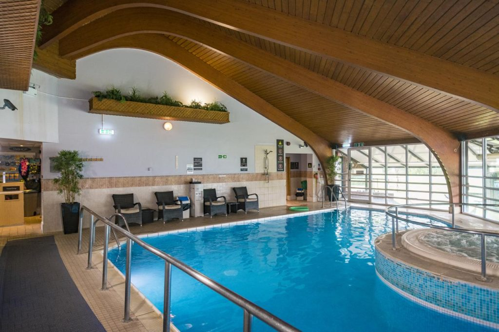 Swimming pool for family activities at Hilton Cobham
