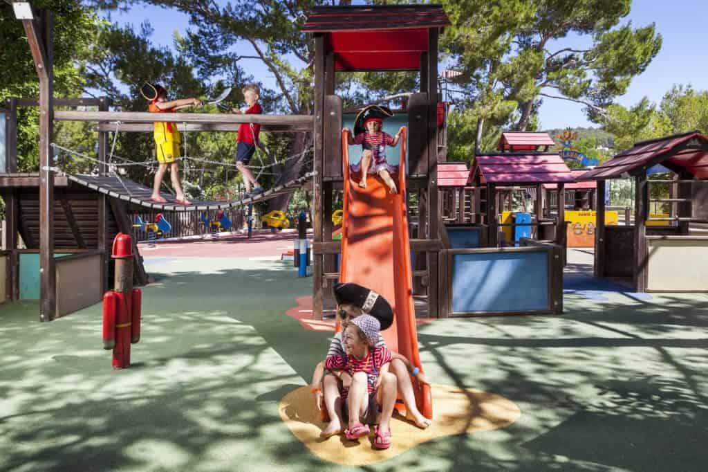 kids playground at invisa hotel club cala blanca