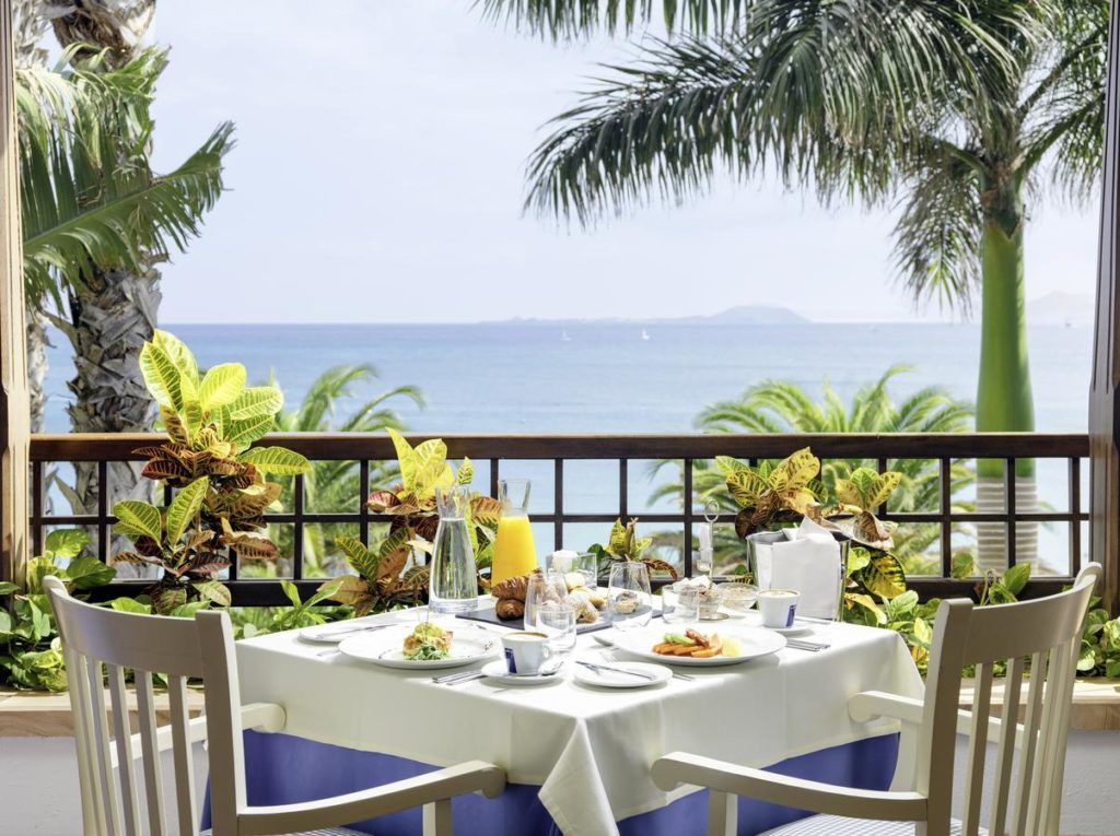 ocean view, al fresco dining at princesa yaiza suite hotel resort