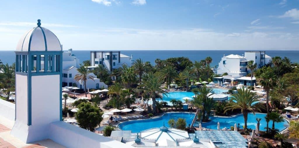 Sea ocean and swimming pool view at seaside los jameos
