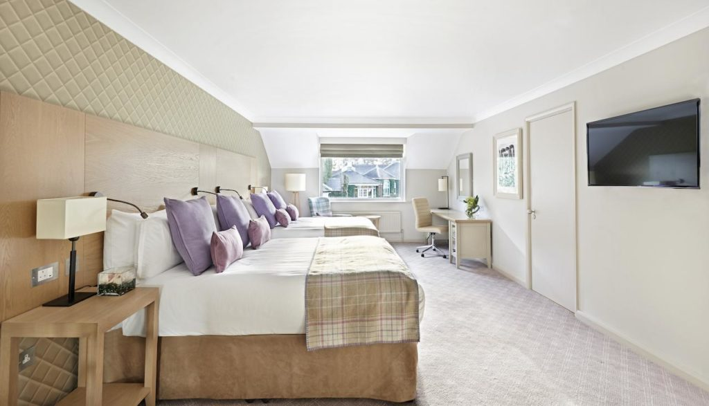 Inside a family room for 4 at The Belfry Hotel & Resort