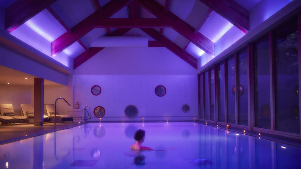 Spa and swimming pool at kid-friendly The Elms Hotel & Spa