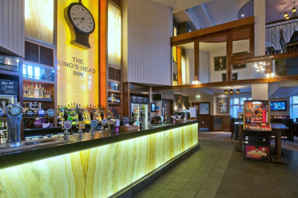 Family-friendly bar at The Kings Head Inn Wetherspoon