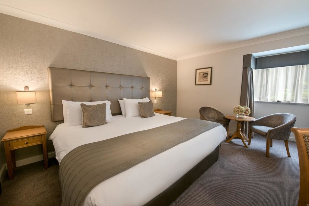 The spacious super king size bed inside a family room of family-friendly hotel, The Westmead Hotel