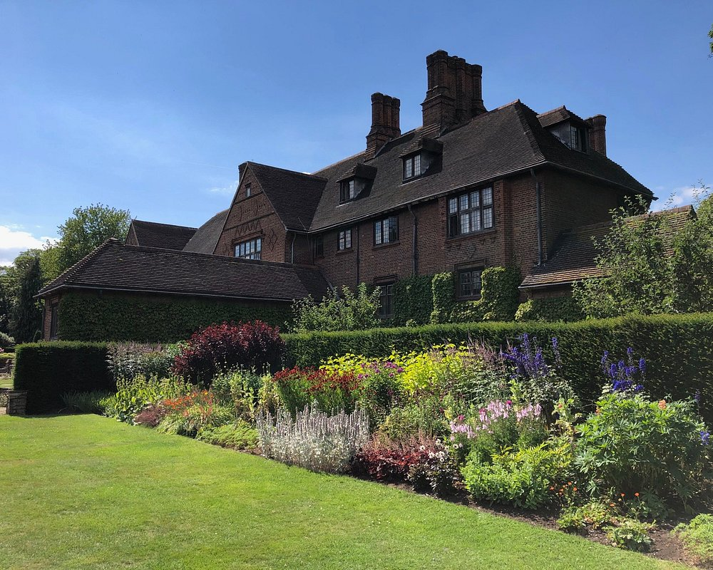 Beautiful external view of the garden at Goddards house and garden, York